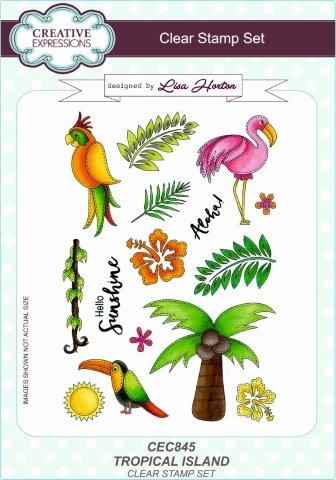 Creative Expressions - Clear stamp - Tropical Island